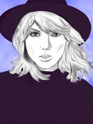 Alex Gross--Taylor Swift Annie Hall