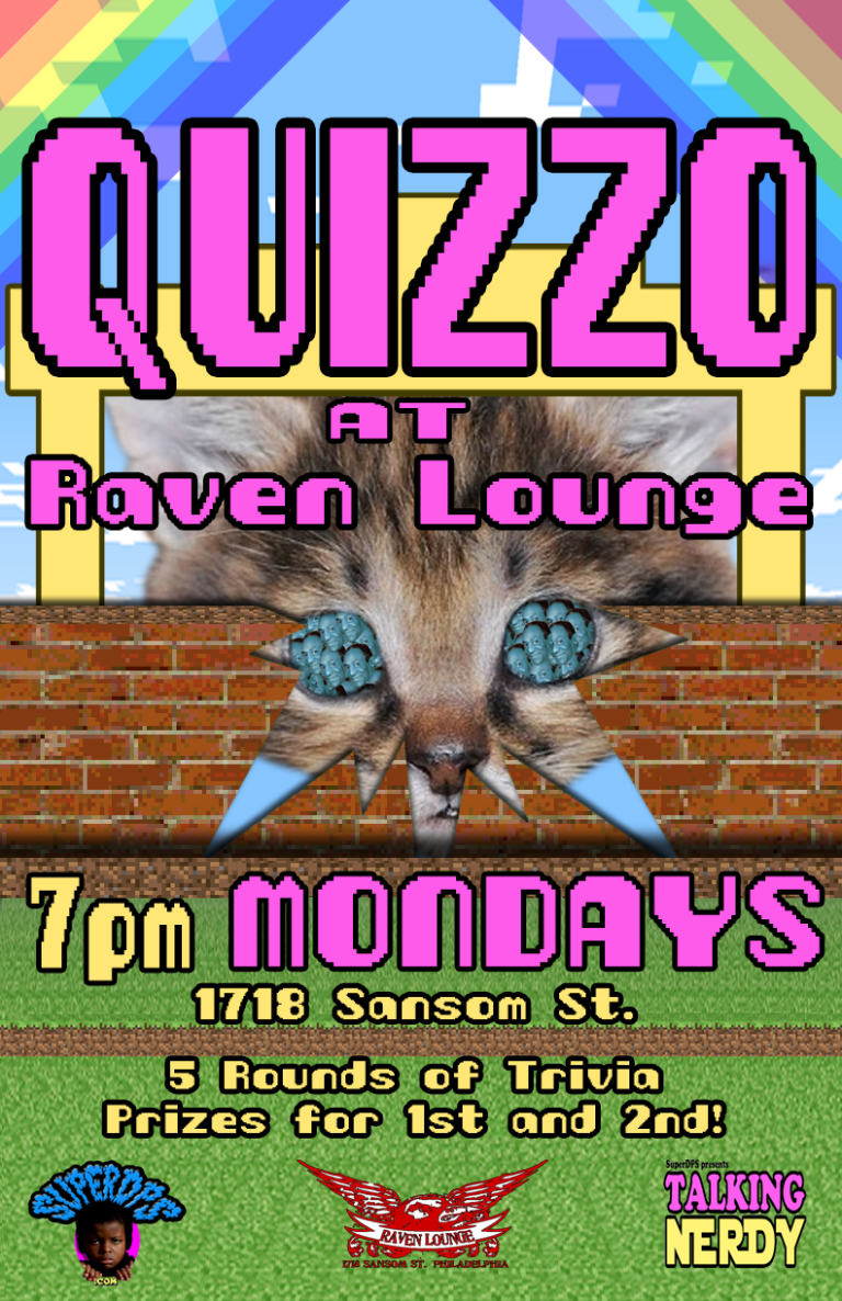 Quizzo at Raven Lounge (1718 Sansom St) Moves to Mondays!