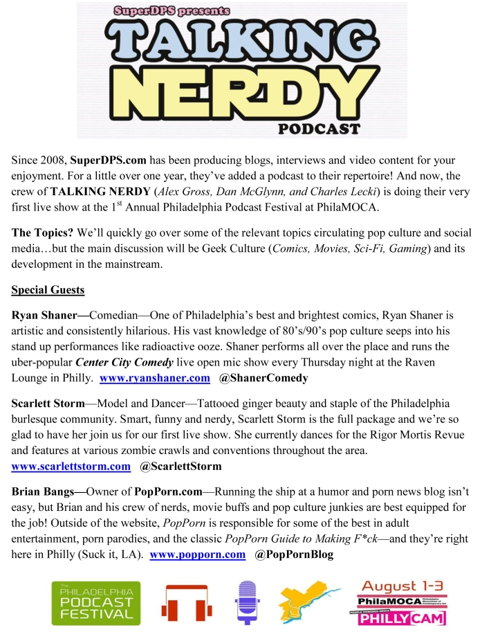 Philly Podcast Festival: Talking Nerdy Press Release